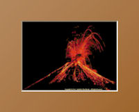 Arenal Erupts at Night Pattern (L9-012)